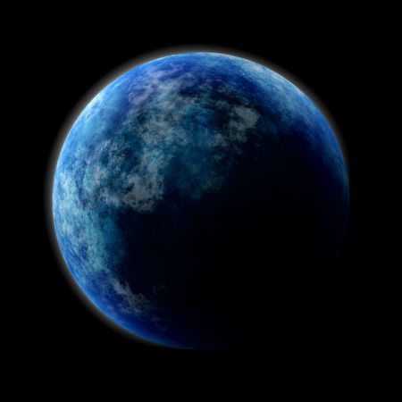 Blue planet in the dark Cosmos