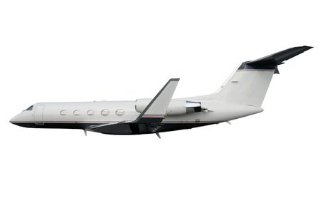Luxury private jet isolated on white background