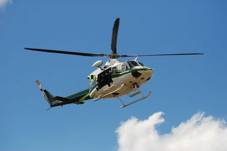 airborne vehicle: Rescue mission from helicopter based crew