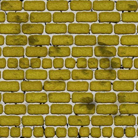 太い mortatr で階層化されたレンガの壁