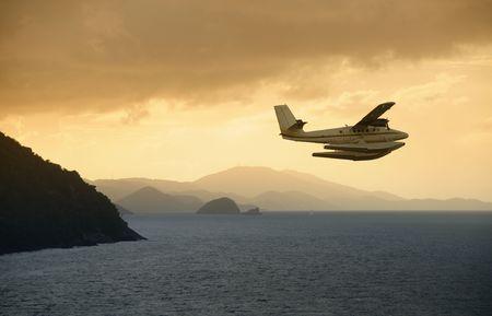 Abenteuer Karibik Reise mit dem Wasserflugzeug Standard-Bild - 4788114