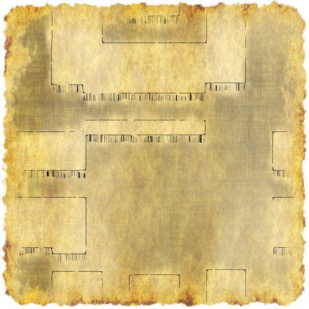 パーチメント紙の古代文書 写真素材