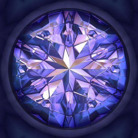 Well polished and cut blue diamond