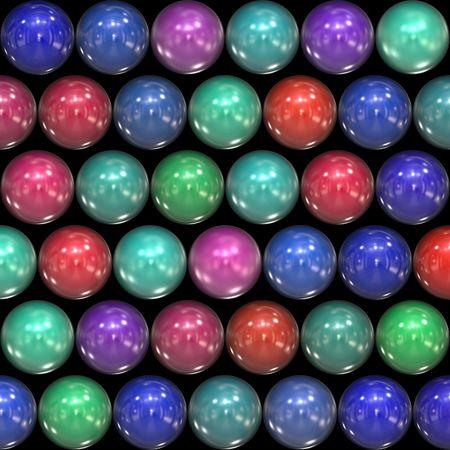 多くのカラフルなボールをボードのテーブル上に並んで