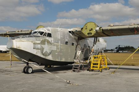 Restoration project for classic retro flying boat  photo