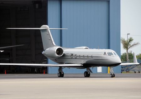 Luxury jet airplane for business charters