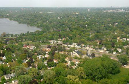 suburbs: Minneapolis, Minnesota suburds aerial view