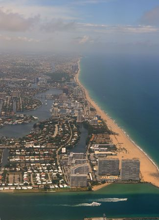 Aerial view of Fort Lauderdale Beach, Florida photo