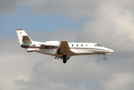 Light private jet used for buisness charters Stock Photo - 5074179