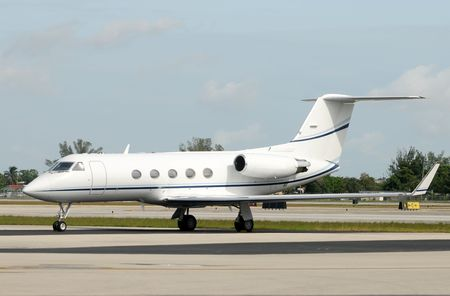 charter: Luxury private jet for charter service Stock Photo
