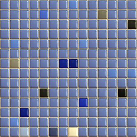 Blue ceramic tiles for interior decor