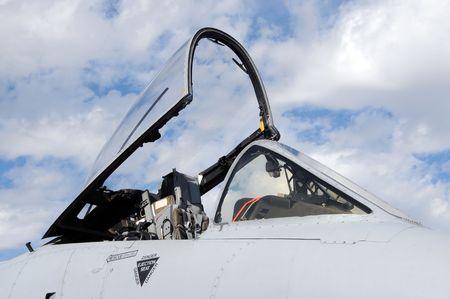 us air force: Modern US Air Force jet open cockpit
