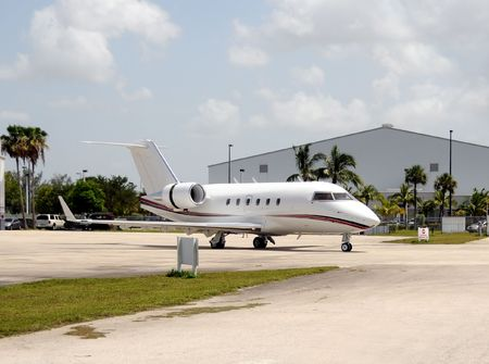 Luxury jet airplane for private and business charters Stock Photo - 5283459