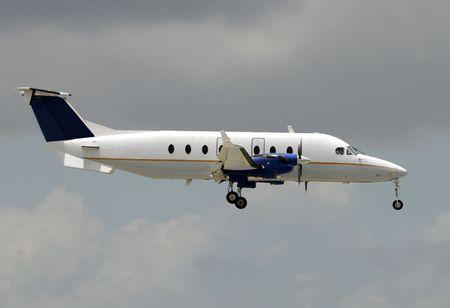 turboprop: Turboprop airplane for regional flight side view
