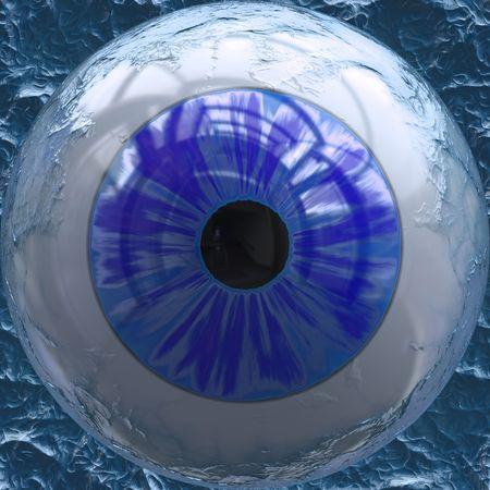 Closeup view of blue colored eyeball 版權商用圖片
