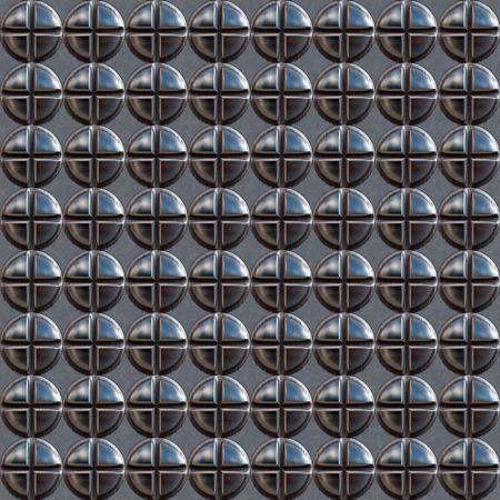 screw: Metallic sheets with screw heads Stock Photo