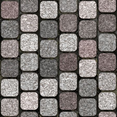 pavers: Top view of paved walkway Stock Photo