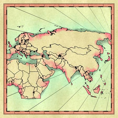 approximate: Antique map of the Old World
