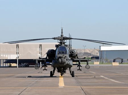US Army Apache helicopter ready for flight