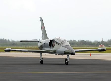 bloc: Military training jet airplane used in the Sov iet Bloc countries