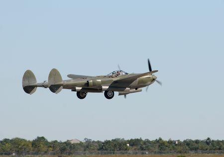 World War II era airplane taking off Stock Photo - 5886170