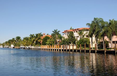 Luxurious waterfront neighborhood in Fort Lauderdale, Florida