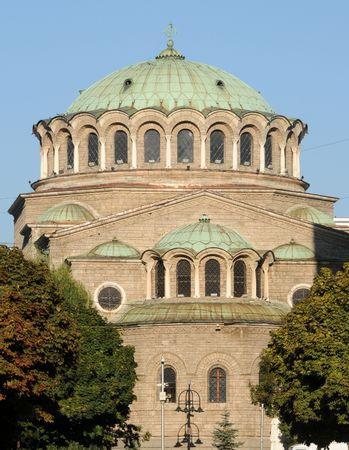 Medieval church in downtown Sofia, Bulgaria Stock Photo