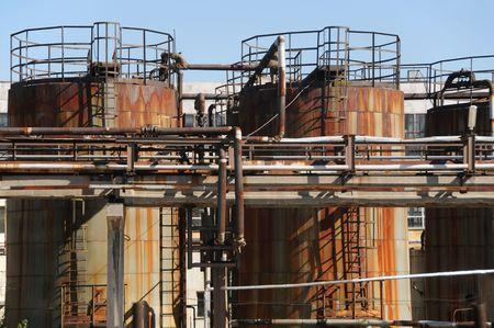 eastern europe: Abandoned rusty industrial plants in Eastern Europe