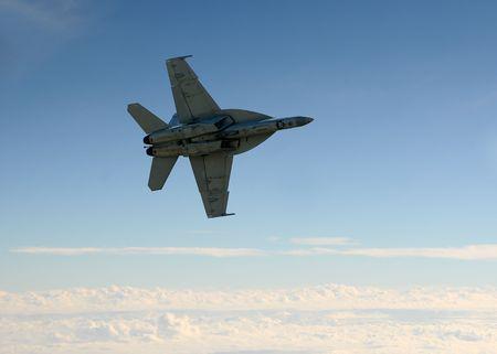 jet fighter: US Navy jet fighter at high altitude