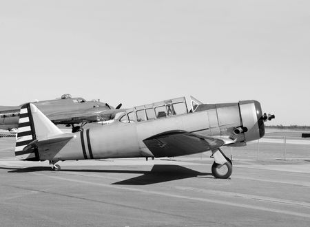 World War II era military trainer airplane photo