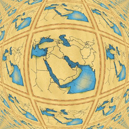 approximate: Antique map of the Middle East