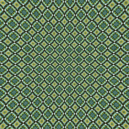 stamped: Green fabric material with stamped pattern Stock Photo