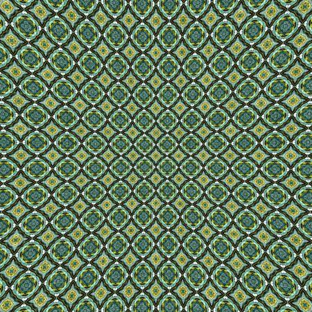 Groen stoffenmateriaal met gestempeld patroon Stockfoto