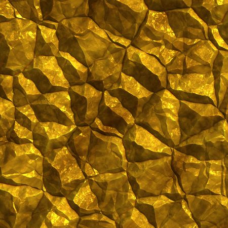 Golden ore chunks glittering for background and texture