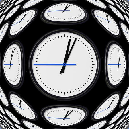 clock: Giant round wall clock on a black background