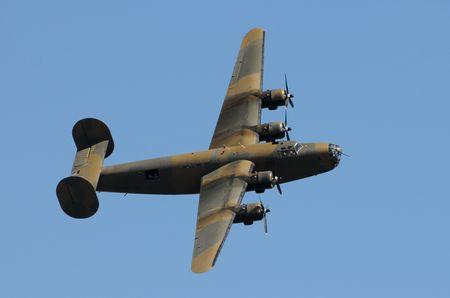 Tweede Wereldoorlog tijdperk zware Amerikaanse bommenwerper Stockfoto