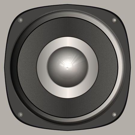 Audio speaked isolated on gray background