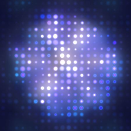 Hazy blue lights for abstract background