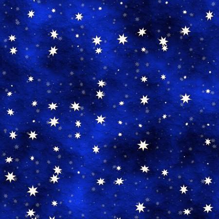 多くの星が青い塗られた天井に散在