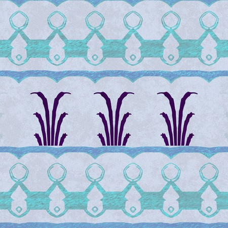녹색과 파란색 욕실 벽지 패턴