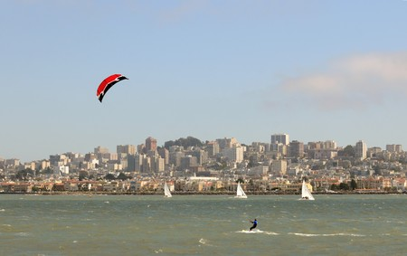 water sports: San Francisco waterfront and bay water sports