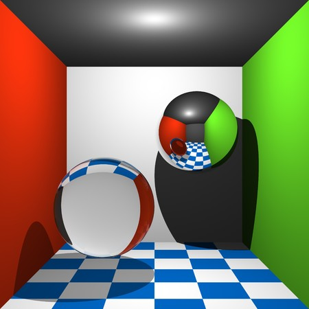 rendered: Rendered geometric spheres,cubes and reflections