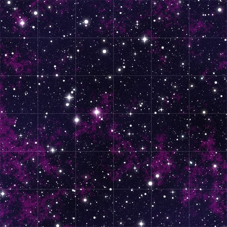 millions: Millions of stars seen in the purple night sky Stock Photo