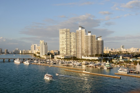 Miami Beach, Florida waterfront apartment buildings photo