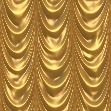 golden: Heavy theater curtain in golden color Stock Photo