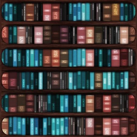dusty: Old book stuffed in a wooden bookshelf