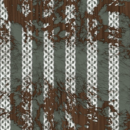 Old worn out wallpaper with vertical pattern