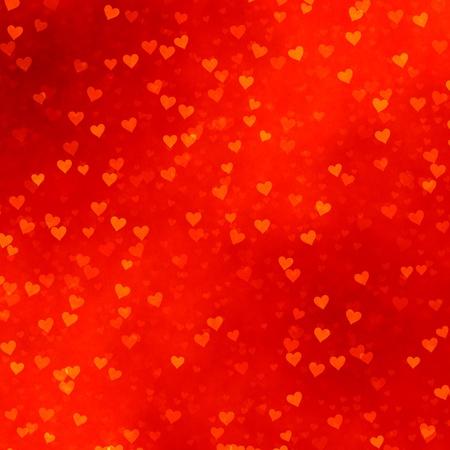 多くの赤い背景の上に散在赤いハート