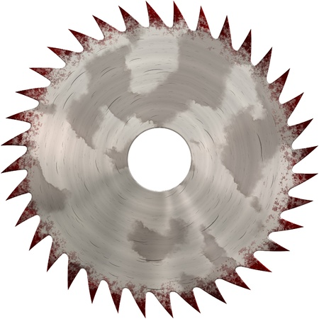 Circular saw isolated on white closeup view Reklamní fotografie