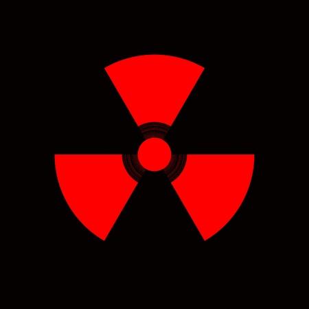Warning sign for nuclear radiation danger Reklamní fotografie